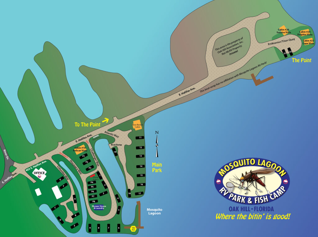 Mosquito Lagoon RV Park Map