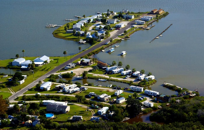 Aerial Photo of the Mosquito Lagoon RV Park - Oak Hill, Florida